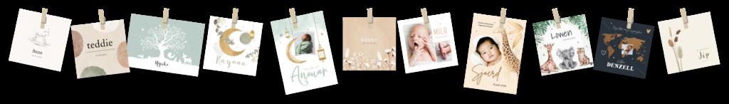 unisex waslijn met babykaartjes